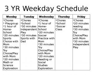 3 yr schedule